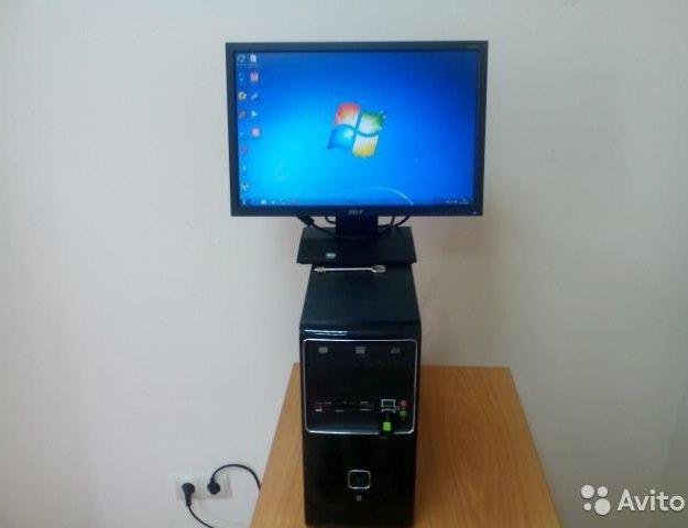 """Компьютер с монитором 19"""" и мощным процессором. Фото 1. Красноярск."""