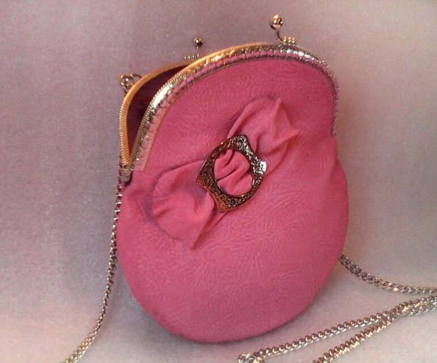 Розовая сумочка (кожа) hm. Фото 1. Санкт-Петербург.