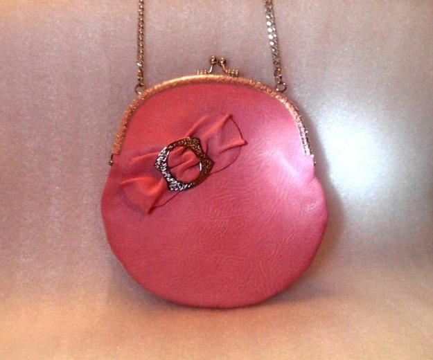 Розовая сумочка (кожа) hm. Фото 2. Санкт-Петербург.