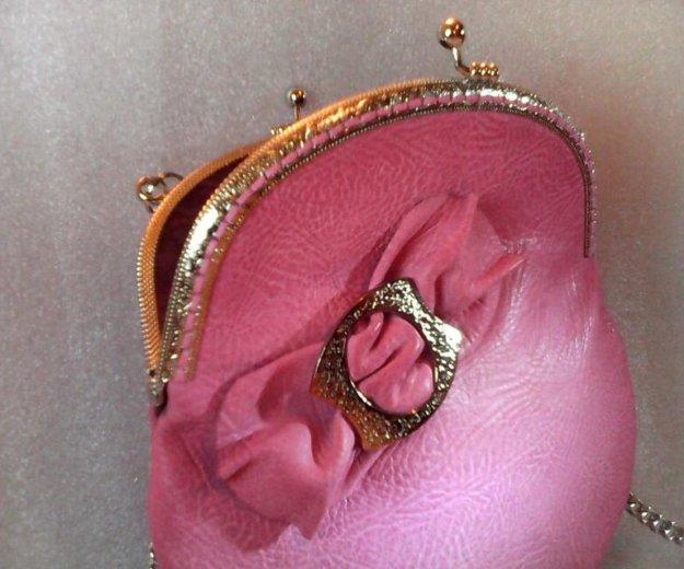 Розовая сумочка (кожа) hm. Фото 3. Санкт-Петербург.