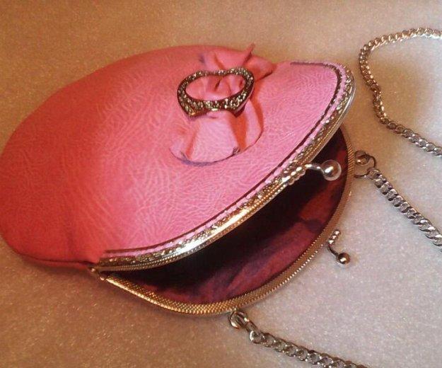 Розовая сумочка (кожа) hm. Фото 4. Санкт-Петербург.