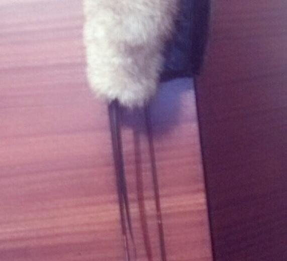 Шапка кожаная,  мех натуральный очень тёплая. Фото 2. Батайск.