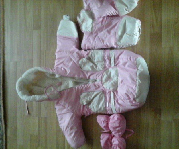 Зимний комбинезон трансформер на девочку. Фото 1. Екатериновка.