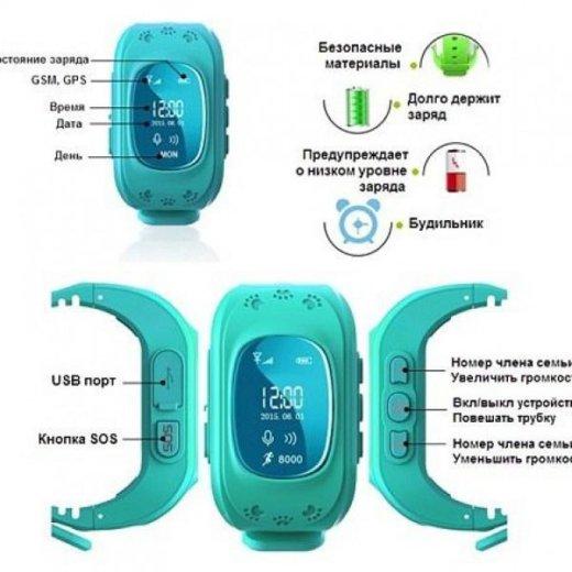 Детские умные часы с gps  smart baby watch q50. Фото 2. Уфа.
