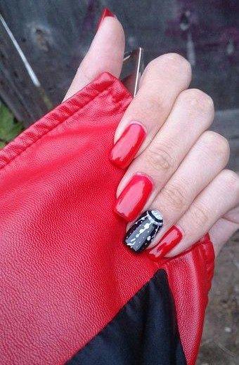 Наращивание ногтей с дизайном. Фото 1. Саратов.
