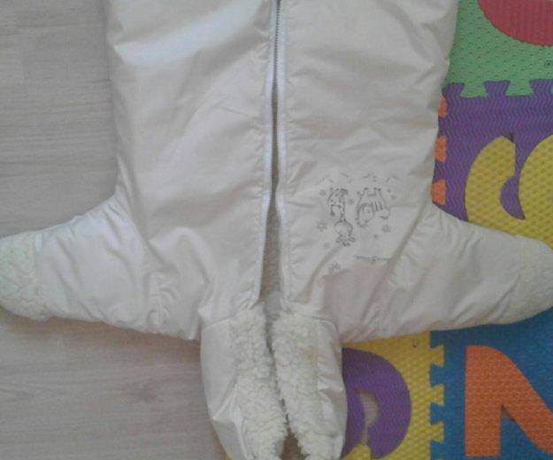 Зимний конверт+шапочка с шарфиком. Фото 4.