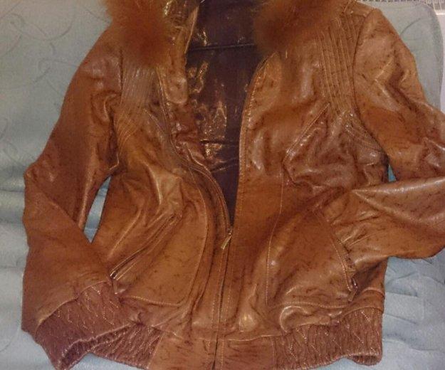 Новая кожаная куртка. Фото 2. Пушкино.