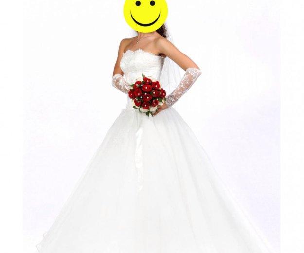 Свадебное платье (перчатки и фата в подарок). Фото 2. Томск.