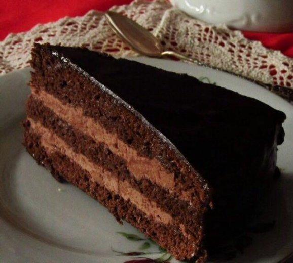 """Домашний торт """"прага"""". Фото 1."""