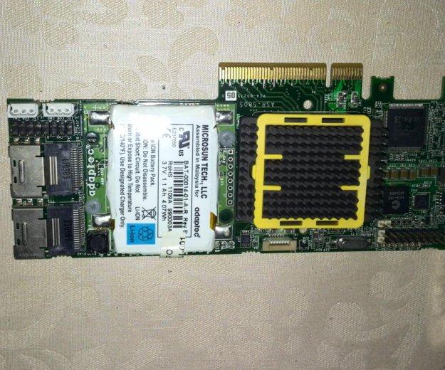 Raid-контроллер adaptec asr-5805 новый. Фото 3.