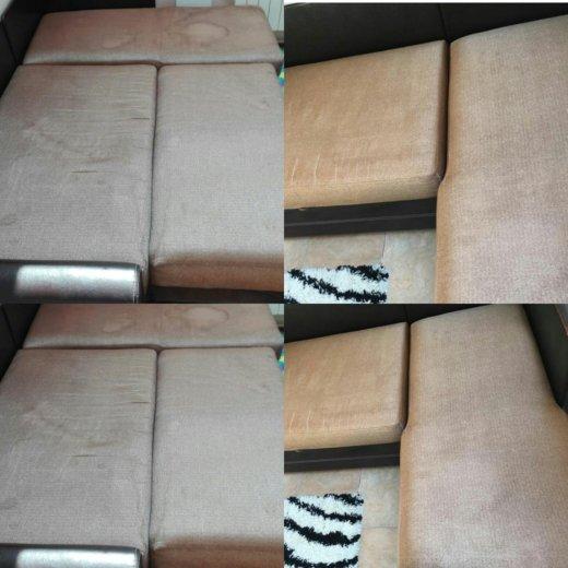 Чистка на мягкой мебели и ковров на дому. Фото 3. Иркутск.