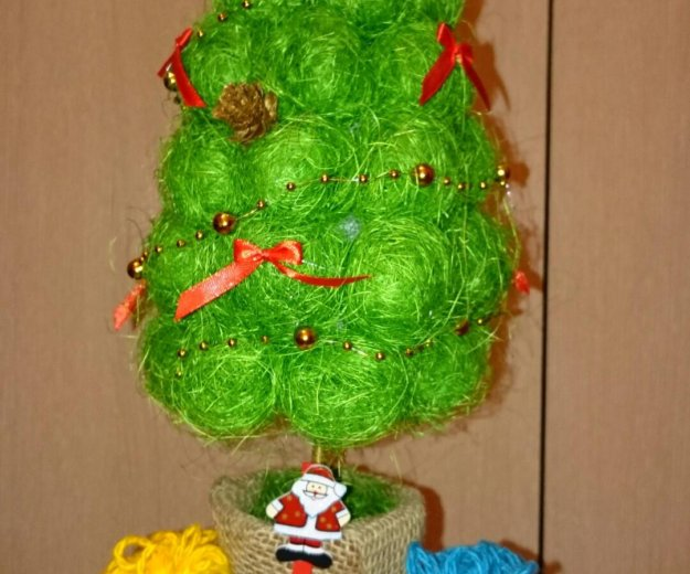 Топиарий новогодняя ёлочка. Фото 1. Железногорск.