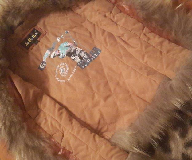 Куртка из натуральной кожи, в идеальном состоянии. Фото 4. Новочебоксарск.