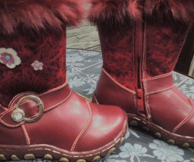 Зимние сапожки для девочки. Фото 2. Тула.