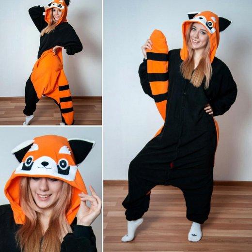 Пижама кигуруми енот (красная панда). Фото 1. Москва.