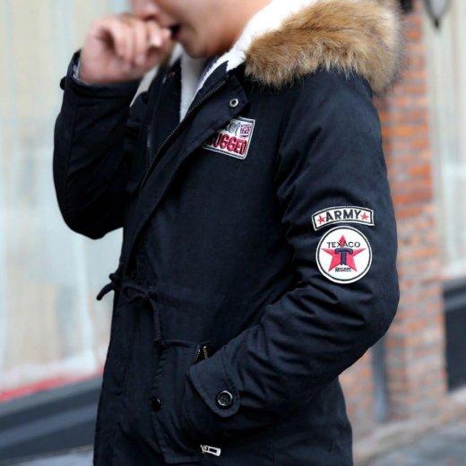 Куртка парка осень-зима черная. Фото 3.