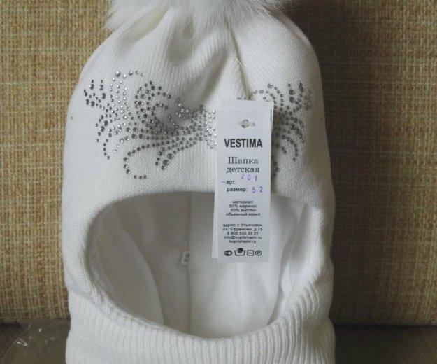 Зимняя шапочка для девочки. Фото 1. Москва.