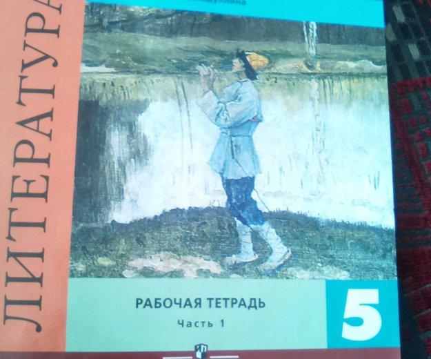 Рабочая тетрадь по литературе 1и 2 часть. 5 класс. Фото 1. Краснодар.