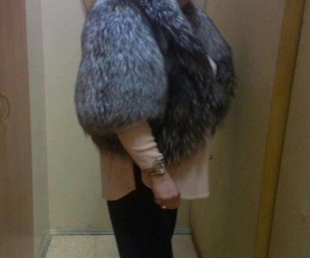 Манто меховое, чернобурка. Фото 4.