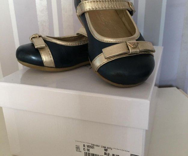 Туфли для девочки armani junior (оригинал). Фото 1.