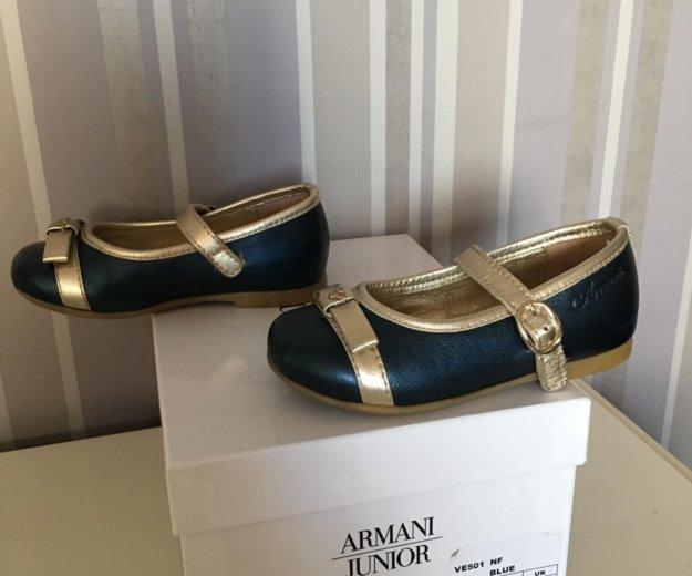 Туфли для девочки armani junior (оригинал). Фото 2.