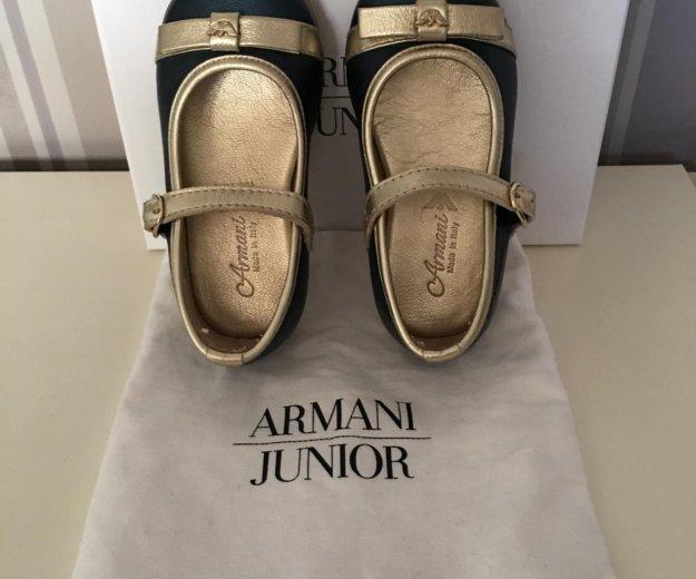 Туфли для девочки armani junior (оригинал). Фото 3.