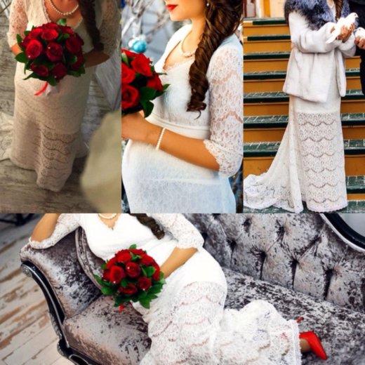 Свадебное платье для беременных. Фото 1. Красноярск.