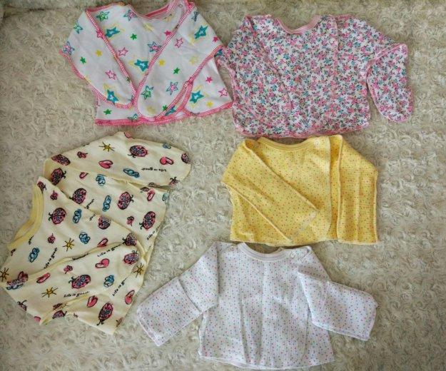 Детские вещи для малышки пакетом от 0-3 мес. Фото 2. Красноярск.