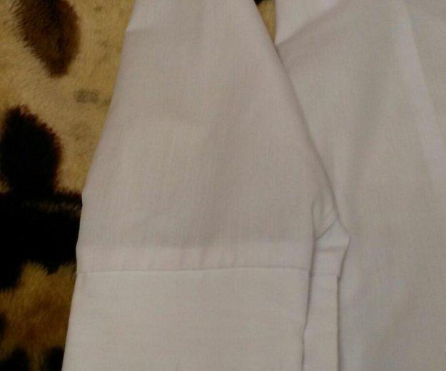 Белая рубашка с длинным рукавом. Фото 3. Троицк.