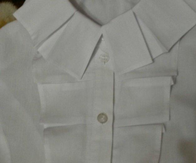 Белая рубашка с длинным рукавом. Фото 2. Троицк.