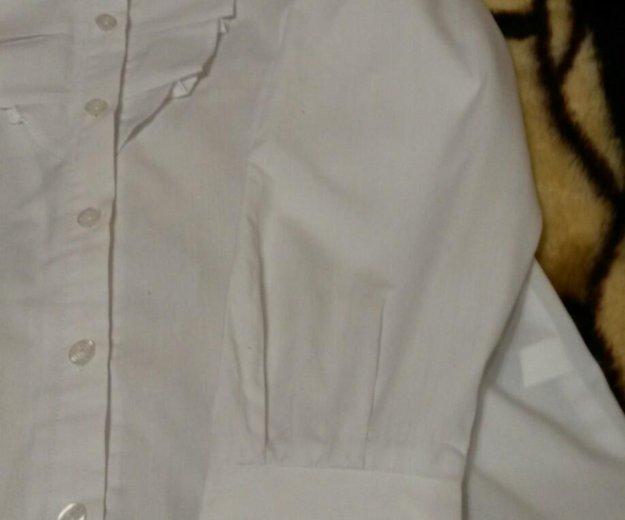 Белая рубашка с длинным рукавом. Фото 4. Троицк.