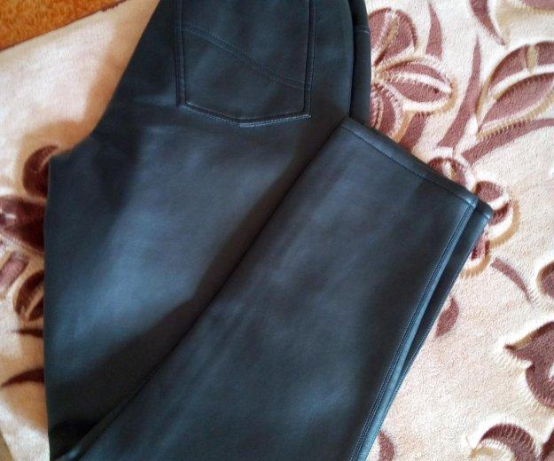 Джинсы кожаные ,44,46. Фото 1.