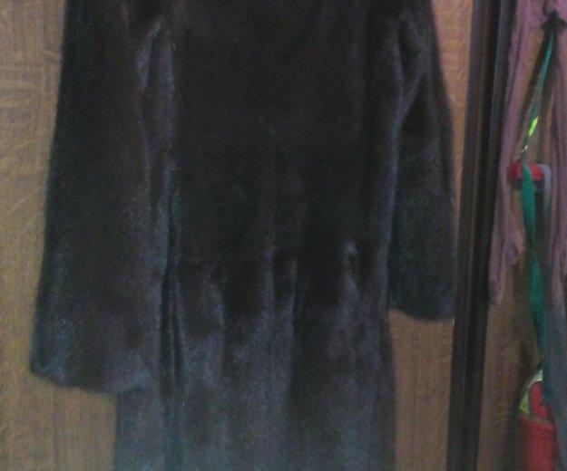 Шуба ( норка) р44-46. длина 110 см. Фото 1. Челябинск.