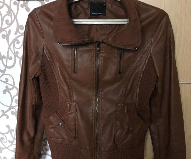 Кожаная куртка fishbone. Фото 1. Челябинск.