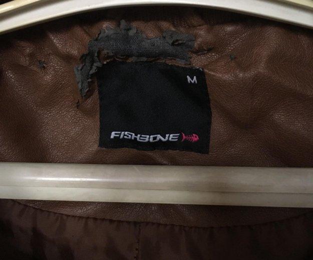 Кожаная куртка fishbone. Фото 2. Челябинск.