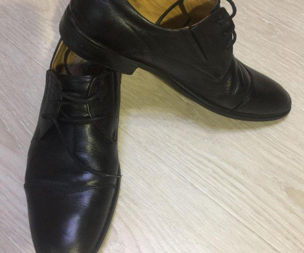 Ботинки кожаные alberto rocci. Фото 1. Саратов.