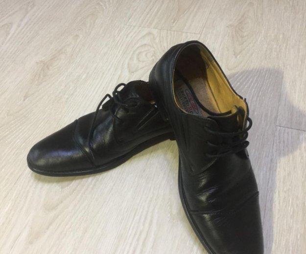 Ботинки кожаные alberto rocci. Фото 2. Саратов.