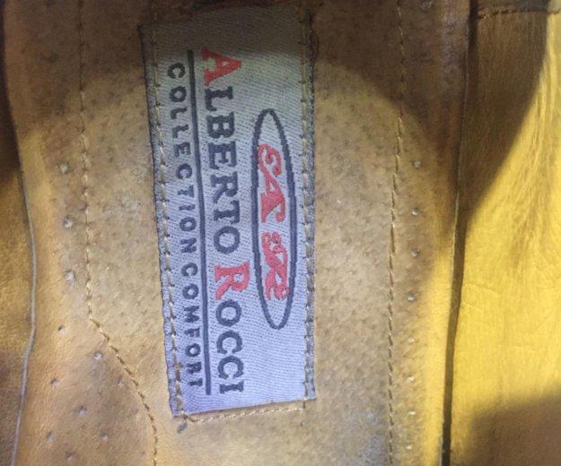 Ботинки кожаные alberto rocci. Фото 3. Саратов.
