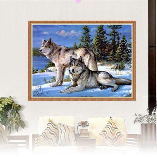 """Алмазная вышивка """"волки"""". Фото 1. Тамбов."""
