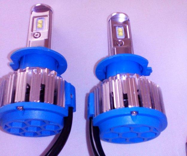 Комплект светодиодных ламп головного света н7. Фото 1. Тольятти.