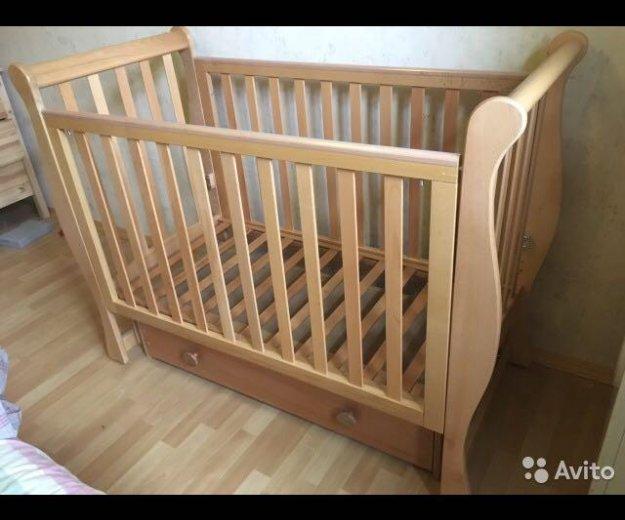 Детская кроватка + матрац. Фото 3. Москва.