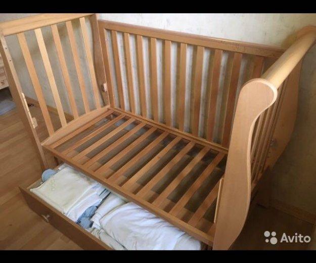 Детская кроватка + матрац. Фото 4. Москва.