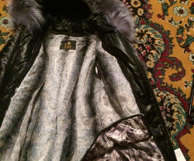 Новая кожаная куртка с натуральным мехом. Фото 4.