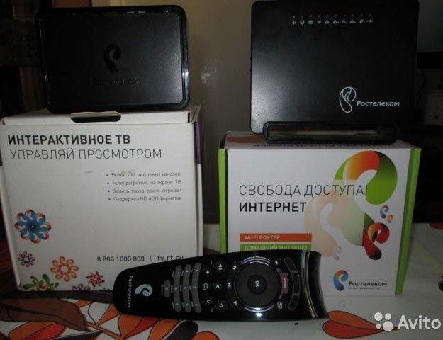 Оборудование ростелеком, wifi роутер и тв приставк. Фото 1. Оренбург.