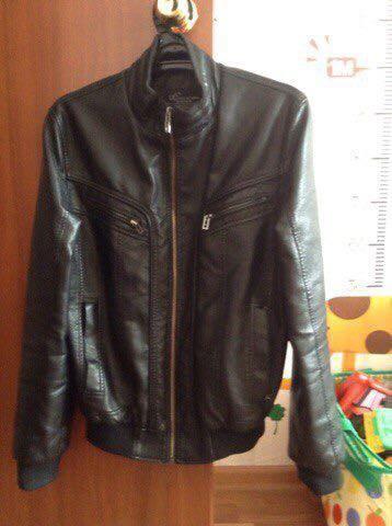 Куртка кожаная. мужская. Фото 1.