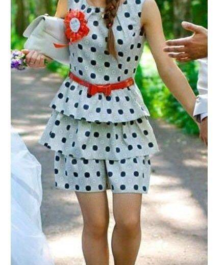 Платье в горошек. Фото 2. Санкт-Петербург.