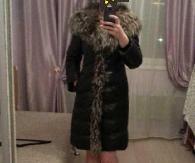 Зимнее кожаное пальто. Фото 1. Екатеринбург.