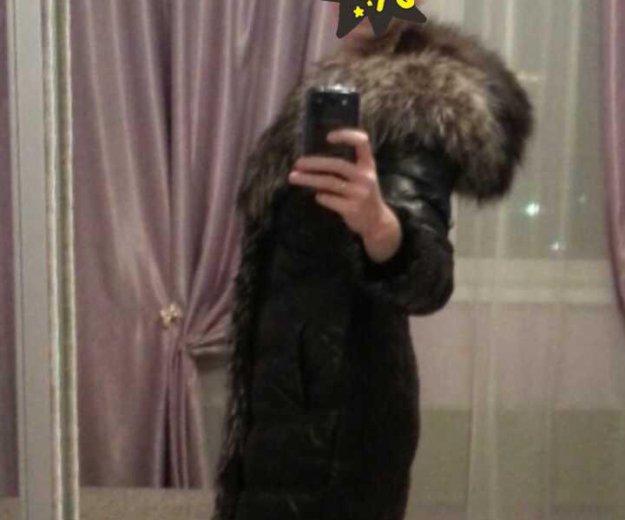Зимнее кожаное пальто. Фото 2. Екатеринбург.