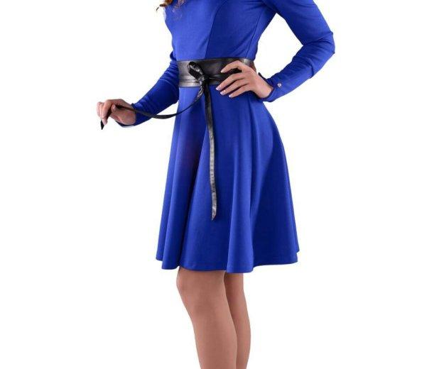 Платье синее ирида. Фото 1.