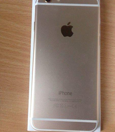 Новый iphone 6 16gb gold. Фото 1.